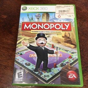 XBOX 360 Monopoly game